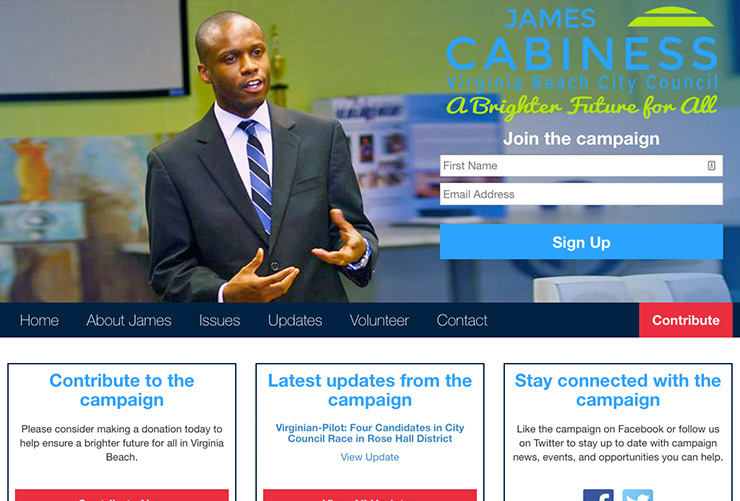 Cabiness for Council Web Design and Web Development by Joel McDonald