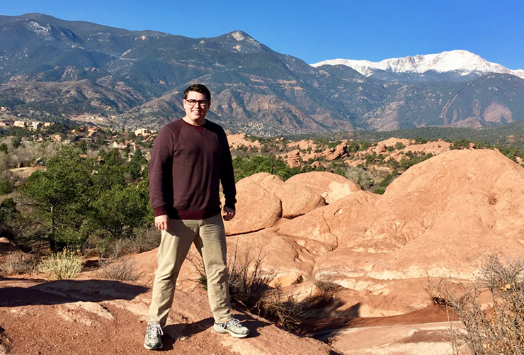 Joel McDonald at Garden of the Gods and Pikes Peak