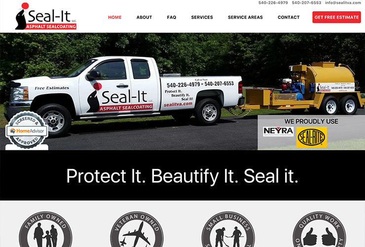 Seal-It Asphalt Sealcoating Web Design and Web Development by Joel McDonald