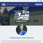 Screenshot of website for Carolyn Rye for Virginia Beach School Board